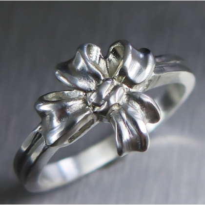 Engagement wedding ribbon ring 925 silver available in gold