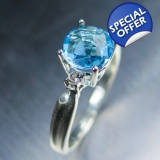 1.40cts Natural Swiss blue Topaz Sterl..