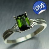 0.50cts Natural forest green tourmalin..