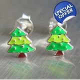 Christmas tree enameled 925 sterling S..