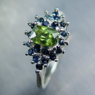 0.85cts Natural demantoid garnet &sapp..