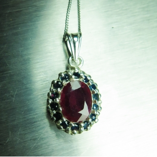 Natural Red Ruby & sapp..