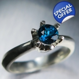 Natural London blue Topaz Silver / Gol..