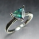 0.77ct Natural colour change Alexandrite Gold / Platinum ring
