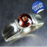 0.90ct Natural Red Pekoe Zircon  Silve..
