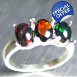 1.65ct Natural Welo Black Opal multi-c..