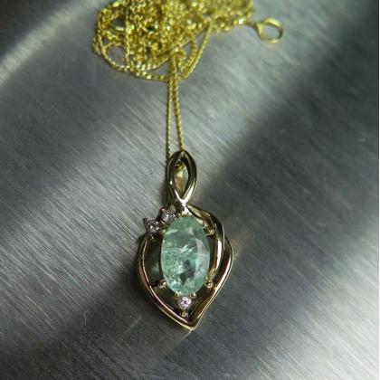 08cts natural alexandrite diamond gold platinum palladium pendant aloadofball Images