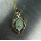 0.8cts Natural Alexandrite & diamond Gold, Platinum, Palladium pendant