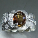 2.60ct Natural Imperial topaz Silver/ ..