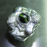 Natural Cat's eye tourmaline 925 Silve..