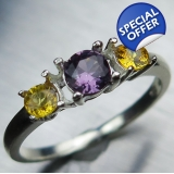 Natural Purple Spinel & sapphires Silv..