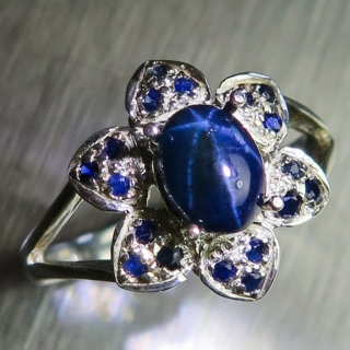1.20ct Natural Dark blu..