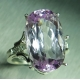 14ct Natural pink Kunzite & topaz Silver/ Gold / Platinum ring