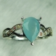 1.30cts Rare Natural Blue Grandidierite Silver/ Gold / Platinum ring