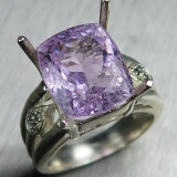 8.35ct Natural pink Kunzite Silver/ Go..
