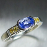 0.75ct Natural Purple Tanzanite Silver..