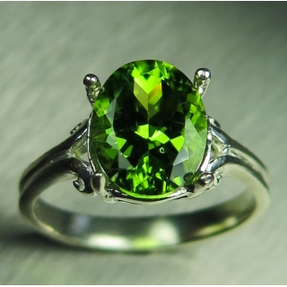 3.25ct Natural Green Peridot Silver/ G..