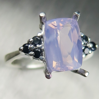 2.60ct Natural Purple Amethyst Silver/ Gold / Platinum ring