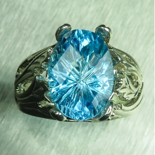 5.9ct Natural Swiss Blue Topaz Silver/..