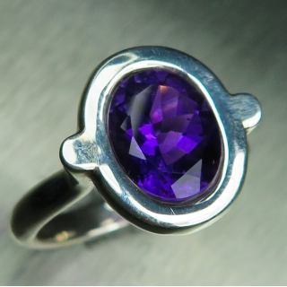 2.55ct Natural Amethyst Silver/ 9ct 14..
