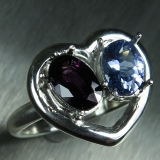 Natural Spinel & tanzanite Silver/ Gol..