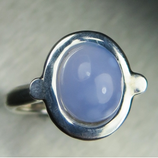 Lavender blue chalcedony Silver/ 9ct 1..