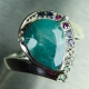 2.35ct Natural grandidierite Blueish Green Silver/ Gold /Platinum ring