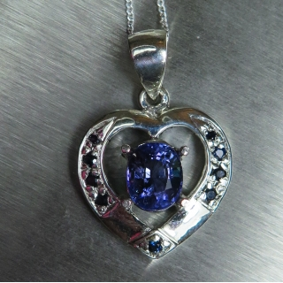 1.6ct Natural Purple Blue Tanzanite SI..
