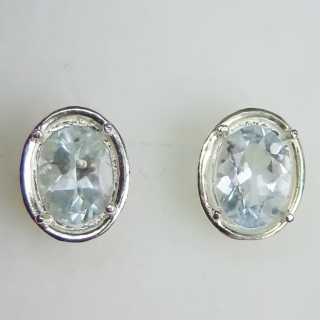 Natural light blue Aquamarine Silver /..