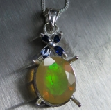 Natural Welo opal Multi-colour Silver/..