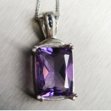 4.45ct Natural Amethyst Silver/ Gold/ ..