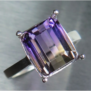 Natural Bi-colour Ametrine Silver/ Gol..