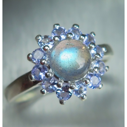 Natural Rainbow Moonstone Silver/ Gold / Platinum engagement ring
