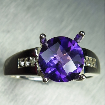 1.7ct Natural Amethyst Silver/ 9ct 14k 18k Gold / Platinum ring