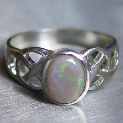 Natural Lighting ridge opal Silver/ 9ct 14k 18k Gold / unisex ring