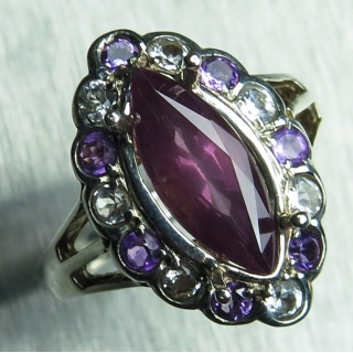 1.70cts Natural purple red Spinel Ster..