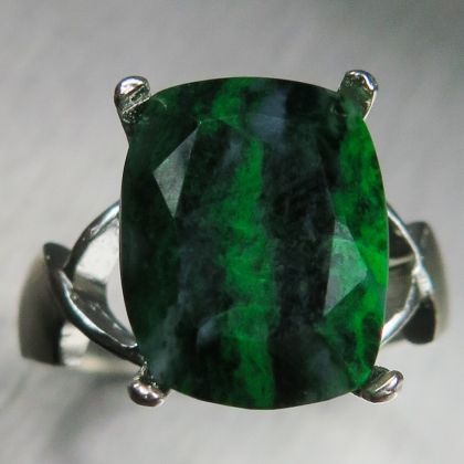 Natural Green Maw sit-sit 925 Silver/ 9ct 14k 18k Gold / Platinum ring