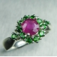 Natural Ruby pink & chrome diopsid..