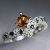 Natural Cinnamon Orange Hessonite Garn..