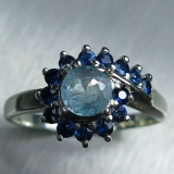 0.55ct Natural blue Afghanite & sapphi..