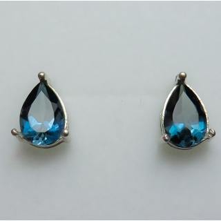 2.7ct Natural London blue Topaz Silver..