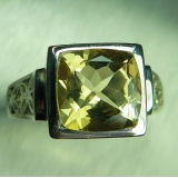 3ct Natural Yellow Heliodor Beryl Silv..