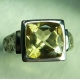 3ct Natural Yellow Heliodor Beryl Silver / Gold / Platinum ring