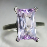 4ct Natural pink Kunzite Silver/ Gold ..
