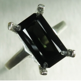 Natural Dark Green Tourmaline Silver /..