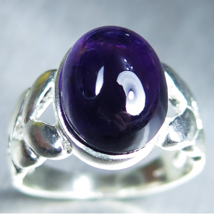 6.55ct Natural Amethyst Silver/ 9ct 14k 18k Gold / Platinum ring