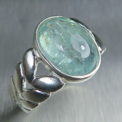 5.4ct Natural Paraiba blue tourmaline 925 Silver unisex ring