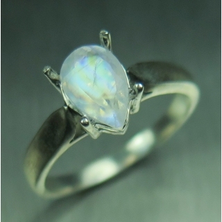 1ct Natural Rainbow Moonstone Silver /..