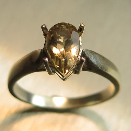 Natural Colour Change Diaspore Silver/ Gold / Platinum solitaire ring