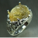 8.25ct Natural Yellow Citrine carved Silver / Gold / Platinum ring
